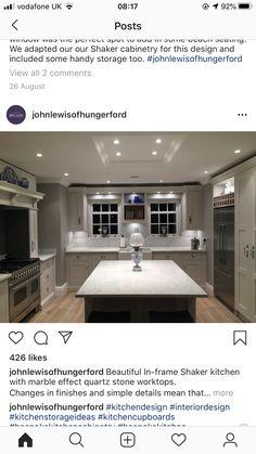 Shaker Kitchen, Marble Effect, Home Decor, Decoration Home, Room Decor, Home Interior Design, Home Decoration, Interior Design