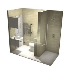 Example of small wet room/walk-in shower Small Wet Room, Small Bathroom With Shower, Small Showers, Tiny Bathrooms, Upstairs Bathrooms, Wet Room Bathroom, Bathroom Layout, Bathroom Interior, Shower Rooms