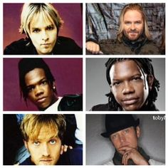 dc Talk then and now.  Now, each are killing it in their own bands.