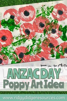 Stuck for ideas on how to commemorate this year's ANZAC Day or Remembrance Day? Why not try this simple art idea in your classroom. It takes very little time to set up and looks extremely effective when displayed in your classroom. Remembrance Day Quotes, Remembrance Day Activities, Remembrance Day Poppy, Art Activities For Kids, Crafts For Kids, Montessori Activities, Paper Plate Poppy Craft, Memorial Day Poppies, Pencil Topper Crafts