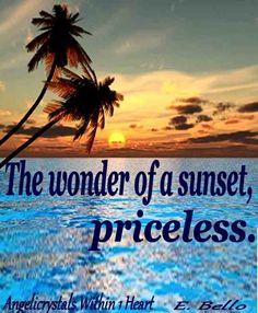 The wonder of a sunset