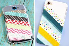 Washi Tape Case: Washi tape, what can't you make prettier? :) (via Clever Pink Pirate & Zakka Life)