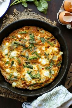 Basil Potato & Asparagus Frittata | Perfect for breakfast, brunch, or even when you're in need of a quick & easy dinner! | Gluten Free + Vegetarian