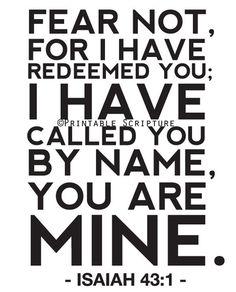 scripture for nursery Isaiah 43:1