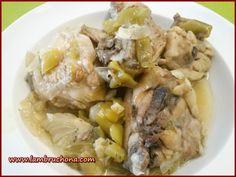 Pollo con pimientos. Lambruchona