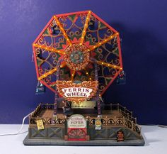 Lemax CARNIVAL VICTORIAN FERRIS WHEEL Animated / Lighted Amusement Ride w/ Music