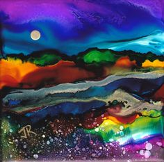 ALCOHOL INKS « June Rollins' Art Blog ~ June, you blow me away EVERY time. ...M