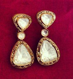 #polki stunners #earrings by Umrao Jewellers via Instagram