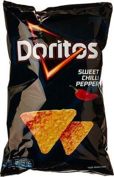 DORITOS Sweet Chili Pepper 200gr DORITOS Sweet Chili Pepper sont des chips fabriqué à base de maïs fraîchement grillé et qui ont une saveur de Sweet Chili Pepper. #chips cinéma www.chockies.net