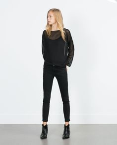 Image 1 of OPEN-KNIT SWEATER from Zara