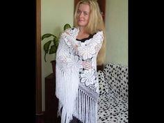 ♥ Бактус, мини-шаль крючком Клематис • Безотрывное вязания + схема • Clematis Crochet shawlette - YouTube