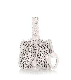 Alaïa - White leather small bucket bag from Savannahs