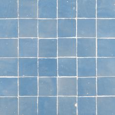 """ANN SACKS Idris 2"""" x 2"""" terra cotta mosaic in sky blue"""