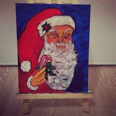 Père Noël - peinture acrylique sur toile