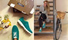 La super chic blogger spagnola Paloma Amo Baile è innamorata delle sue nuove sneakers #Speedy color turchese!