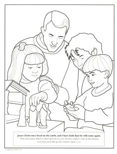 Several LDS Coloring Pages