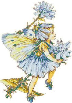 Blue Fairy Girl Cross Stitch Printable Needlework Pattern - DIY Crossstitch Chart, Relaxing Hobby, Instant Download PDF Design