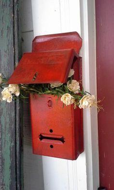 shabby chic. Motif Heart white mailbox mail box Mailbox