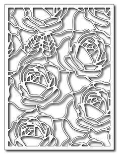 Frantic Stamper Precision Die - Blooming roses card panel