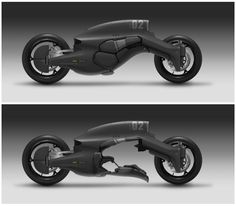 M61 REAVER Military Motorcycle by ProgV  the upper part is a jet engine, nozzles are on each side so they won't burn the tyre...  lower part can open up to let driver get inside  ( so actually the size of this motor is huge..