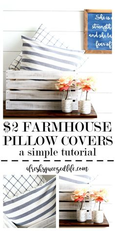 DIY pillow covers ar