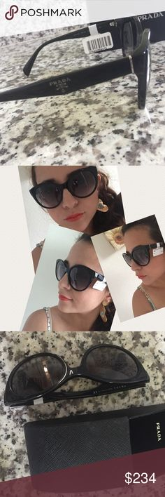🌸Authentic New Prada🌸 🌸Gorgeous Prada 🌸authentic item 🌸Look classy and chic with this lovely sunglasses 🌸I love Prada sunglasses ...they are an excellent choice ...long lasting and the best quality 🌸comes with box ..case and authenticity card 🌸cat eye look 🌸price is firm⛔️⛔️⛔️⛔️⛔️ Prada Accessories Sunglasses