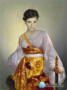 Photoshop костюм женский воительница