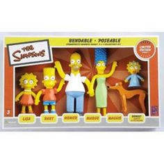 The Simpsons Family Bendable Figure Set Series 1