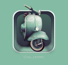 """""""vespa"""" icon by tianhao0817  2013-02 via ui.cn 1540"""