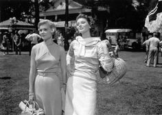 """Hope Lange and Suzy Parker in 1959's """"the Best of Everything"""", they are at the annual Fabian Publishing picnic. Description from pinterest.com. I searched for this on bing.com/images"""