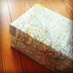 Schuhkartons mit Papier beziehen - simpler gehts eigentlich ja nicht... Aber genial^^