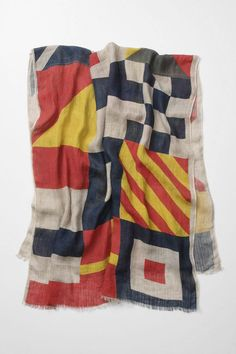 Obsessed with this scarf that looks like nautical flags. If only I had $138 to blow on a scarf.