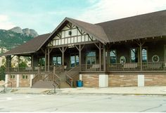 Estes Park YMCA, main building deck. We love to grab a cup of coffee, find a spot on the deck, read our Bibles, and take in the view