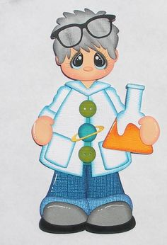 Paper Piecing Boy Scientist, School, Science Fair, for Scrapbook Layouts, Pages Bee Illustration, Paper People, Scrapbook Paper Crafts, Scrapbook Layouts, Paper Craft Supplies, Paper Piecing Patterns, Scrapbook Embellishments, Kids Church, Science Fair