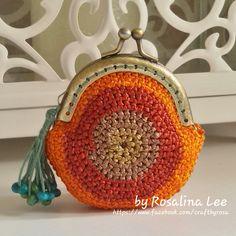 Crochet Ribbon Coin Purse,...