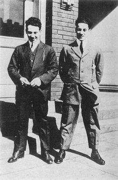 Harpo and Groucho.      Harpo, age 27, Groucho, age 25
