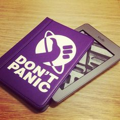 """I need this for my husband. """"Don't Panic - Kindle Touch cover by ForestFruits, via Flickr"""""""