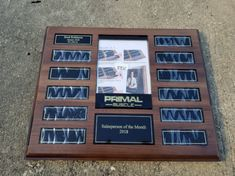 NEW Personalized Engraved Magnetic Perpetual Plaque, Photo Frame Plaque, Employee of the Month, Corporate Award, Employee Award