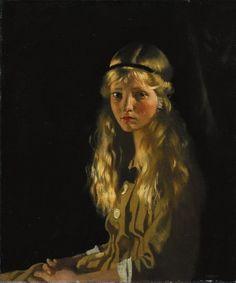 """Mona Dunn"" -- by Sir William Orpen (Irish, 1878-1931)"