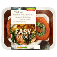Waitrose Easy To Cook salmon roulade with spinach & ricotta