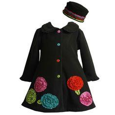 Bonnie Jean TODDLERS 2T-4T 2-Piece BLACK MULTICOLOR BONAZ FLOWER BORDER FLEECE Outerware Coat/Hat Set Bonnie Jean, http://www.amazon.com/dp/B008ZVTVHY/ref=cm_sw_r_pi_dp_SgFmqb1KTYTRP
