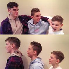 Handsome boys! From left to right  Hair by @jolanmagnan Jennifer and @rianahowarth  #boys #menshair #mensfashion #yeg #edmonton #yeghair #yegsalon #barberlife #haircut #hair #headlinessalonspa #greatday