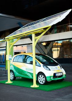 Solelia Solar Powered EV Charging Stations http://www.solelia.se #DrivingWithTheSun