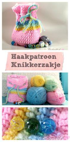 Crochet pattern pouch, marble pouch #crochet Free pattern in english and dutch.Gratis haakpatroon knikkerzakje, knikkerzakje haken voor beginners. #haken zogehaakt.nl