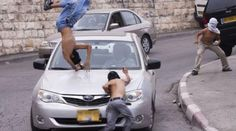 A female Israeli #settler ran over a #Palestinian youth on Thursday morning, near the West Bank city of Salfit.