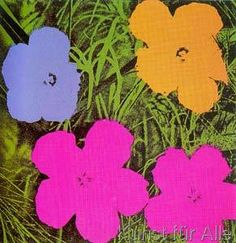 Andy Warhol - Flowers yellow, o. r., 1970