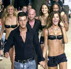 Gisele at the Dolce and Gabbana show in 2003