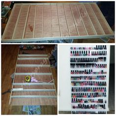 DIY Nail Polish Rack - Hairspray and Highheels