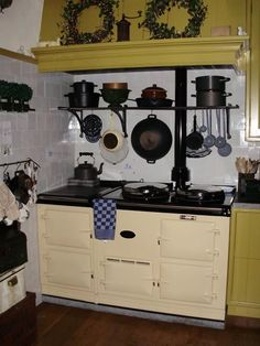 Dutch kitchen from Artois - living with a story - with Aga cooker