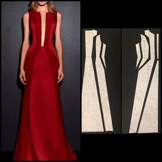 ENG➡️to draft the pattern of this dress, start from a basic dress and lengthen it to the ground. its best is achieved when using… Source by Dresses pattern Fashion Sewing, Diy Fashion, Ideias Fashion, Dress Sewing Patterns, Clothing Patterns, Pattern Sewing, Pattern Drafting, Sewing Clothes, Diy Clothes